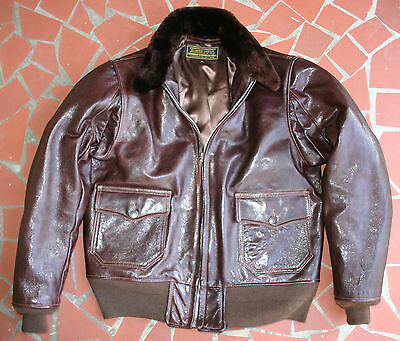ED CHURCH 1940's USN REPRO M-422A,G-1, A-2 LARGE SIZE 42 LEATHER FLIGHT JACKET