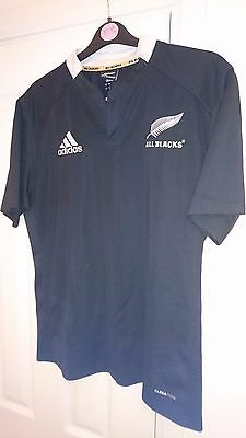 NEW ZEALAND Rugby Union Shirt LARGE Men's ALL BLACKS Adidas Jersey L Top