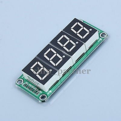 74HC595 Static Driving a 4-Digit 4 Segment Digital Display Module 0.5-inch Red