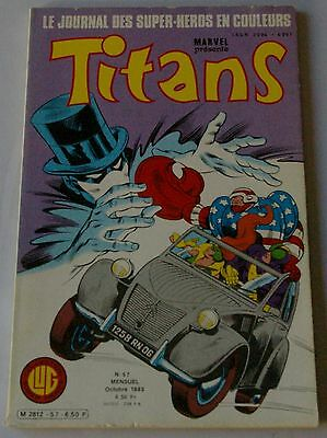Titans - N° 57 - Power-Man / Mikros / Dazzler / Star Wars - Lug Eo 1983
