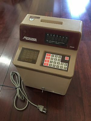 Amano Mr 7530 Employee Time Clock Punch In / Out Management