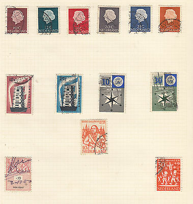 NETHERLANDS On Old Album Page USED Good LOT!!