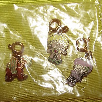3 Vintage New Sealed Strawberry Shortcake Doll Charms Rare Agc 1980 Kenner Mint