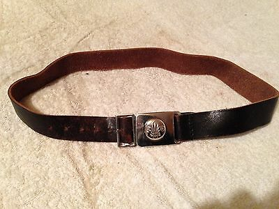 Vintage, Boy Scouts, Belt And Buckle.