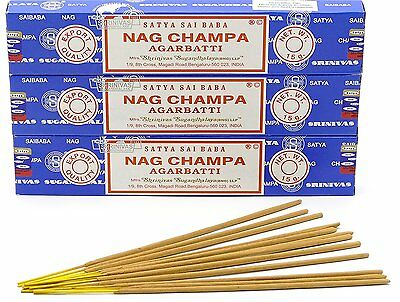 Satya Sai Baba Nag Champa Incense Sticks Agarbatti  15 Gram Box