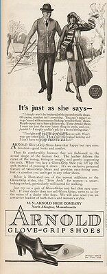 1922 MN Arnold Shoe Co North Abington MA Womens Lace Up Heel Glove Grip Ad