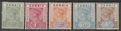 Gambia 1898 Qv Tablet 1/2D To 4D