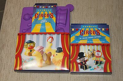 Lakeland 3D Circus Cookie Cutters & Non Stick Silicone Cake Mould *NEW*