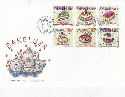 Sweden 1998 Greetings Stamps Pastries Set FDC Unadressed Mint
