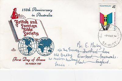 Australia 1967 150th Anniversary of British & Foreign Bible Society FDC