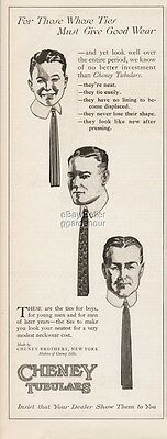 1922 Cheney Tubulars Mens Ties NY 1920's Fashion Clothing Accessories Print Ad