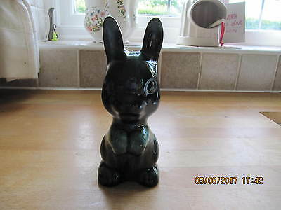 Canadian Blue Mountain Pottery   RABBIT 7ins high green/blue