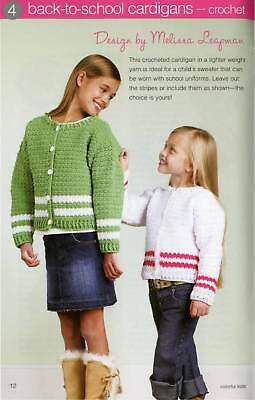 Knitting & Crochet Pattern Book Colorful Kids Afghans Amigurumi Sweaters More
