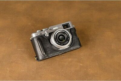 VR Handmade Genuine Leather Camera Half Case for Fujifilm X100F Black