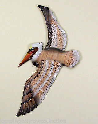 Wall Art - Flying Pelican Wall Sculpture - Nautical Decor - Beach - Ocean
