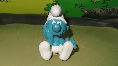 Smurfs Thinker Smurf Daydreamer (Without Eyebrows) Rare Vintage Display Figurine