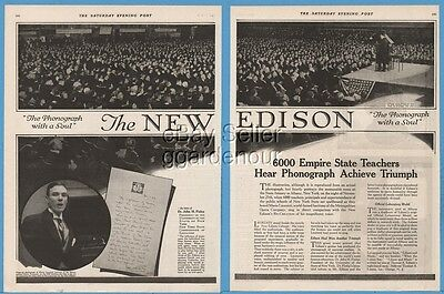 1920 Edison Phonograph State Armory Albany NY 6,000 Empire State Teachers Ad