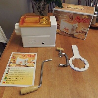 Pasta Maker Marcato Regina Atlas Manual made in Italy 5 Dies New