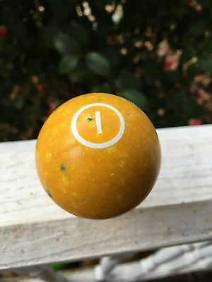 Vintage Billiards Pool Ball Number #1 Replacement
