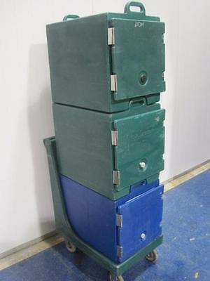 Cambro Portable Food Warmer Holding Cabinet Catering 3 Tier Stackable Rolling