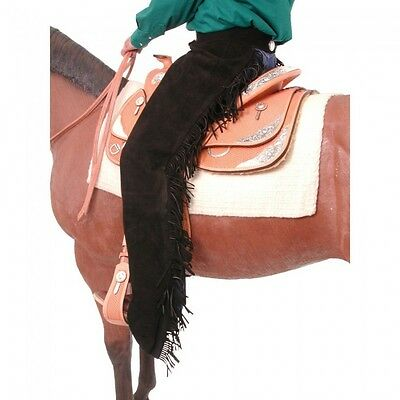 Tough-1 Suede Equitation Chaps - Black - Small - NWT - 63-310