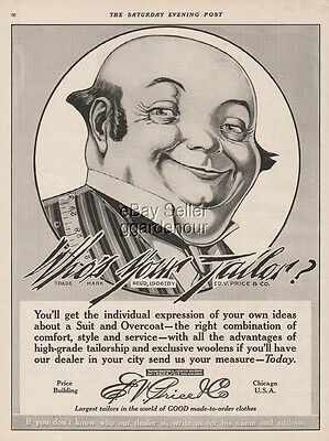 1916 Who s Your Tailor Ed V Price Chicago IL Men s Fashion Vintage Ad