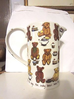 Paul Cardew Classic Ted Tea Teddy Bear Picnic 2 Pint Jug Pitcher England NEW NR