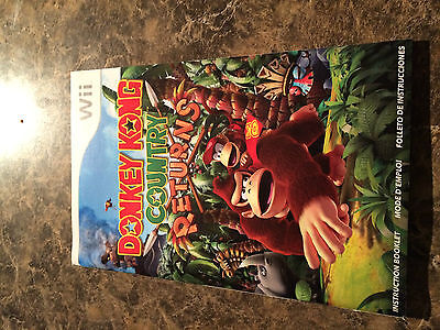 Donkey Kong Country Returns - Nintendo Wii - Instruction Manual Only