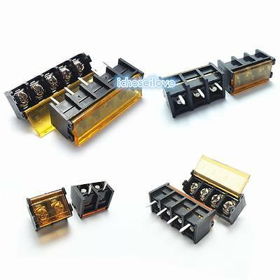 HB-9500 2P-10P 9.5mm Barrier Terminal Block Connector with Cover PCB Mount