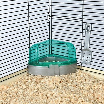 New Trixie Hamster Corner Toilet with Roof - Hamster Mice Loo - Litter Tray 6256