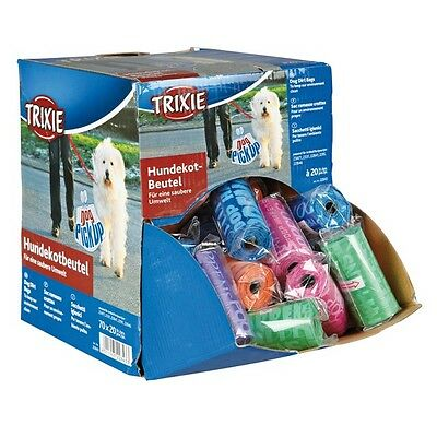 NEW Trixie Dog Dirt Bags - 20 Dog Poo Bags On A Roll T-22843 (Pack of 10 to 70)