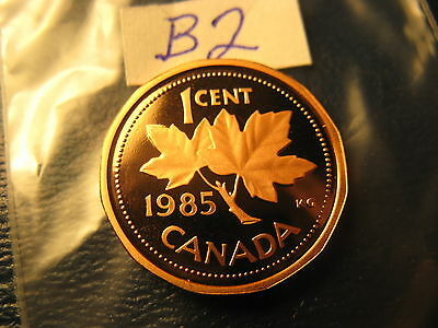 Canada 1985 Proof Like Gem Penny From Mint Set ID#B2.