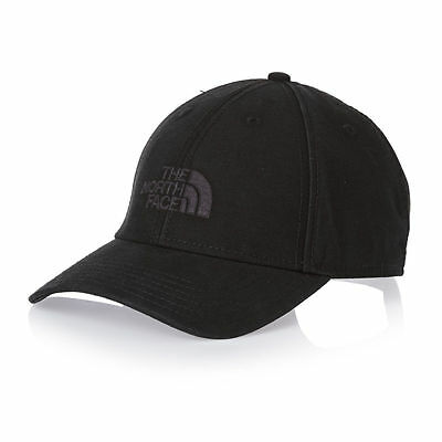 The North Face Mens Logo Classic 66 Cap Baseball Hat Black BNWT One Size TNF