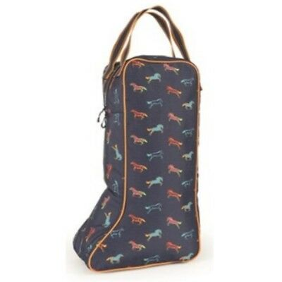 SHIRES HORSE PRINT LONG BOOT BAG 6504 rider boots travel storage luggage padded