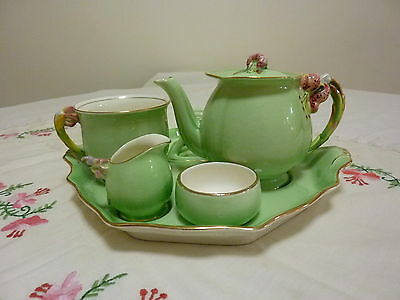 Royal Winton Grimwades Green Tiger Lily Breakfast Set 6 Pieces Not Rose Bud