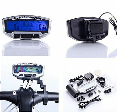 Digital Bicycle Bike LCD Cycling Cycle Computer Odometer Speedometer Stopwatch
