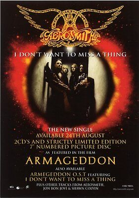 Aerosmith I Don't Want to Miss a Thing 1998 Flyer