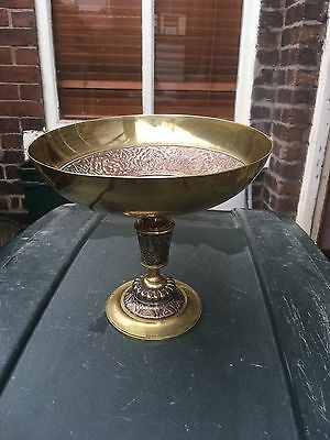 Aesthetic Movement Brass And Copper Fine Quality Tazza,footed Bowl