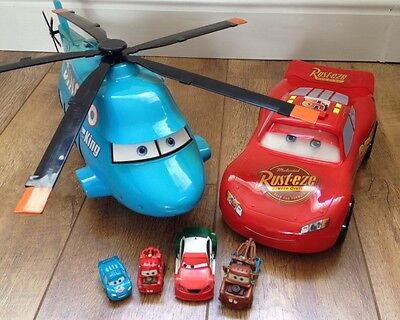 Disney Cars Dinoco Helicopter, Lightning McQueen