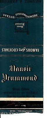 Manoir Drummond Route No. 9 Drummondville Quebec Canada Old Matchcover
