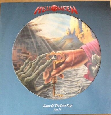 Ex/ex Helloween Keeper Of The Seven Keys Part 2 Vinyl Picture Disc Lp + Stickers