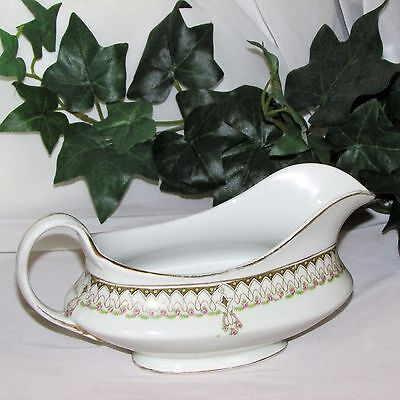Vintage J & G Meakin Gravy Boat Pink Roses Scrolls Discontinued Replacement