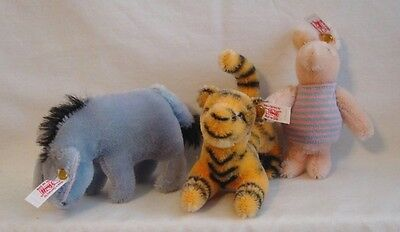 Steiff - Classic Eeyore, Tigger and Piglet - Set of Three - EAN # 354205 - LE