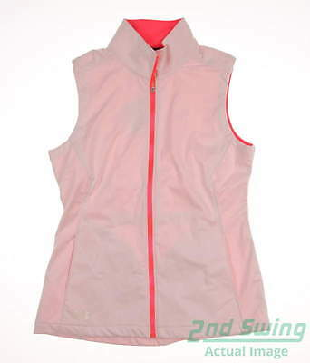 New W/ Logo Womens Under Armour Golf Vest Medium M White MSRP $75