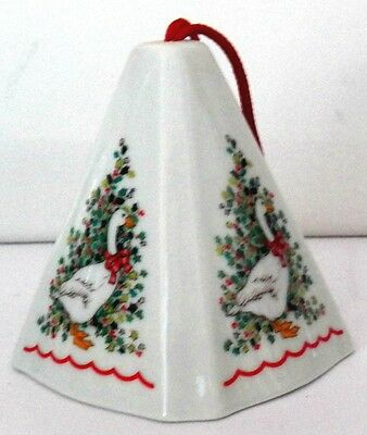 Collectible Jasco Ornament Porcelain Christmas Goose Pomander Potpourri Holder