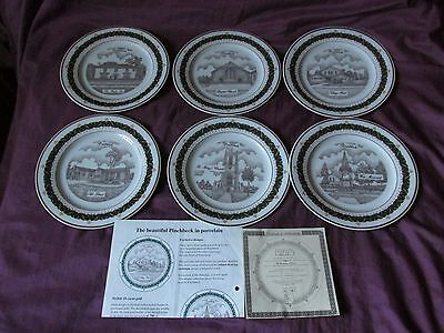 The Canterbury Collection - Set of 6 Limited Edition Plates - Pinchbeck