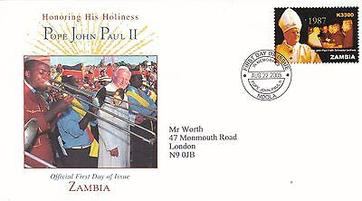 Zambia 2005 In honour of Pope Paul II FDC