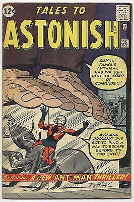 Tales To Astonish #36, Marvel 1962, Fn- Condition, Rk Collection, 3Rd Ant-Man