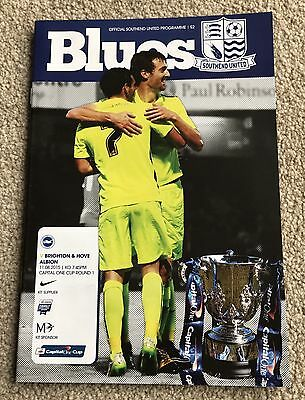 Southend United v Brighton & Hove Albion 2015/16 - Capital One Cup Programme
