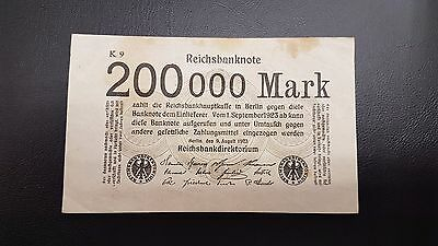 B-D-M Alemania Germany 200000 mark 1923 Pick 100 BC F